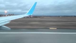 Взлёт самолёта. Вылет из аэропорта Савино. Пермь