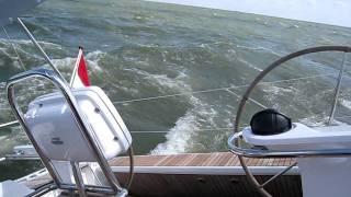 Bavaria 45 met 5bft op IJsselmeer