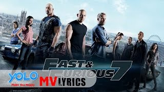 [Lyrics+Vietsub] See You Again || Wiz Khalifa ft. Charlie Puth (Fast and Furious 7) HD