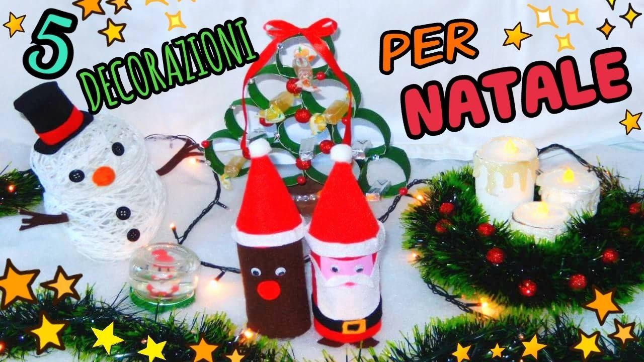 5 Decorazioni Per Natale Fatte In Casa Diy Natale Room Decor Iolanda Sweets Youtube
