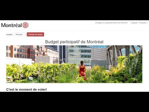 Budget participatif de Montréal : comment voter?