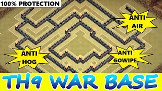 Clash Of Clans | INCREDIBLE TH9 WAR BASES OF 2015! | New Updated Base Designs / Strategy