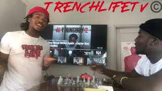 NBA YoungBoy - Carter Son  (Reaction Video) TrenchlifeTV