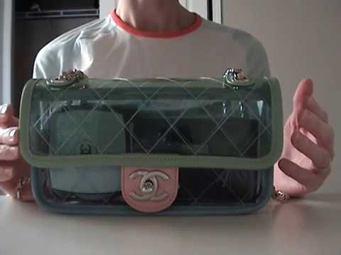b6dc909b567eeb Chanel Transparent PVC Mini Review - YouTube