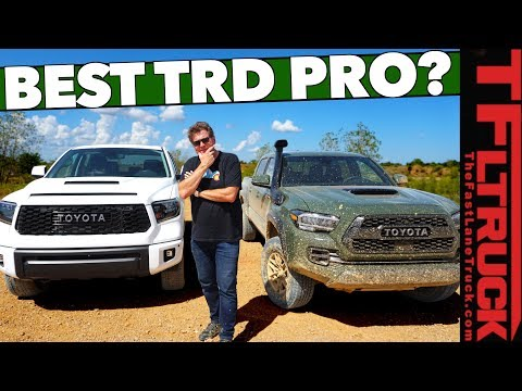 Midsize or Full-size? 2020 Toyota Tacoma TRD Pro vs Tundra TRD Pro: You Can Only Pick One!