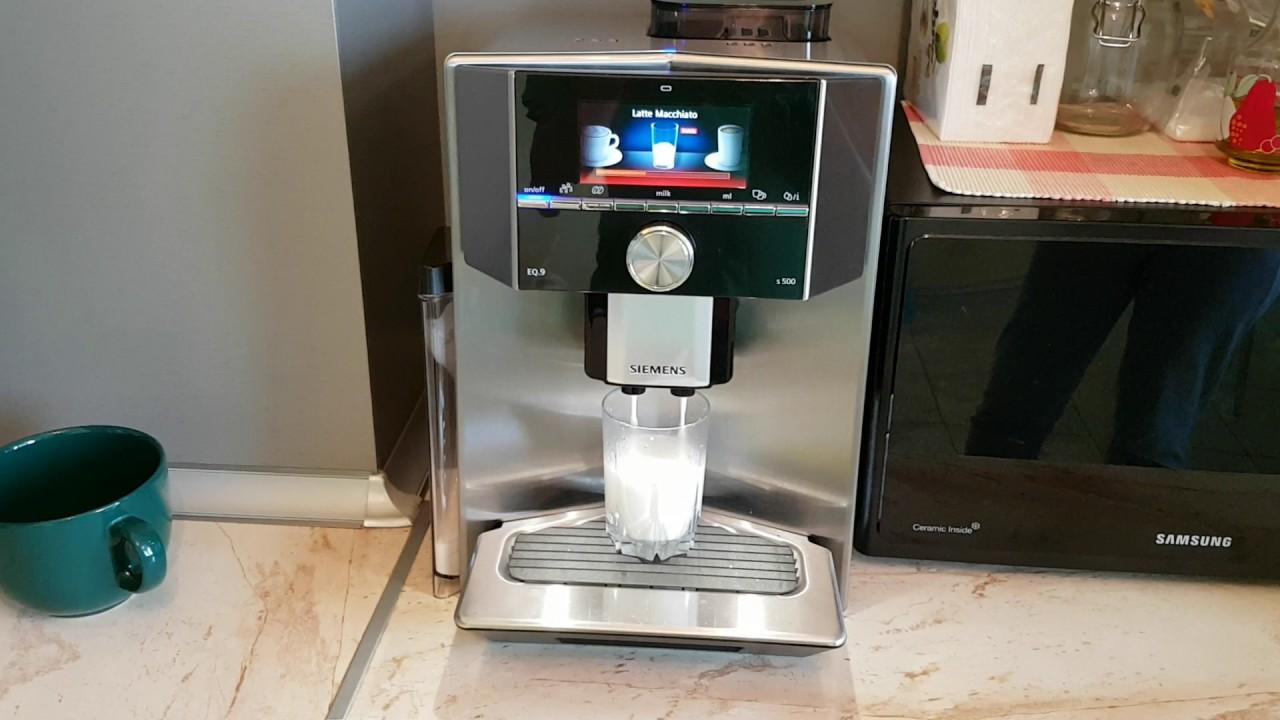 Siemens Eq 9 Latte Macciato Youtube