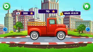 Kids Learning Wasing Trucks Fun Games - Kids Car Wash Service Auto Workshop Garage