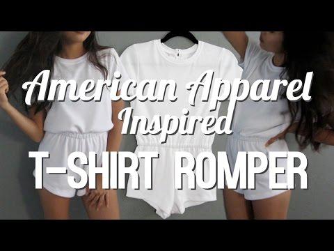 DIY | T-Shirt Romper [American Apparel Inspired]