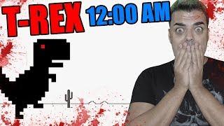 No DEBES jugar al T-REX a las 1200 AM  El juego del dinosaurio de google