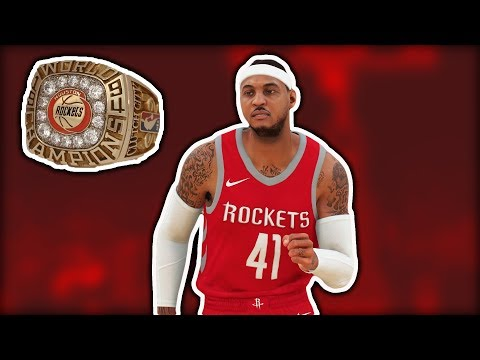 Carmelo Anthony To The ROCKETS Roster Update NBA 2K18
