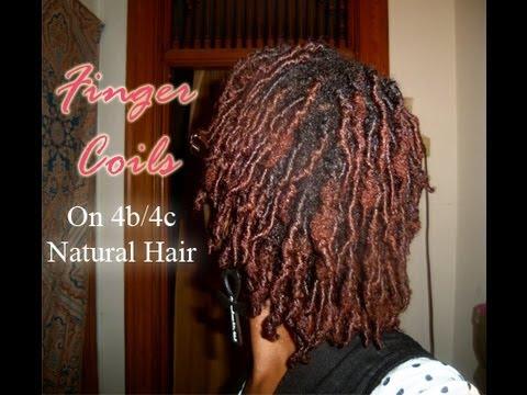 Finger Coils 4b 4c Natural Hair Youtube