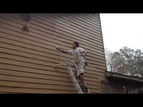Staining Exterior Cedar Sherwin Williams Woodscapes Youtube