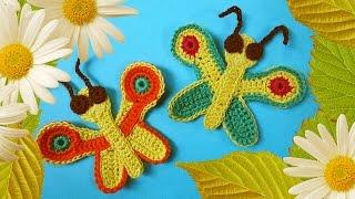 Бабочка крючком   Crochet butterfly