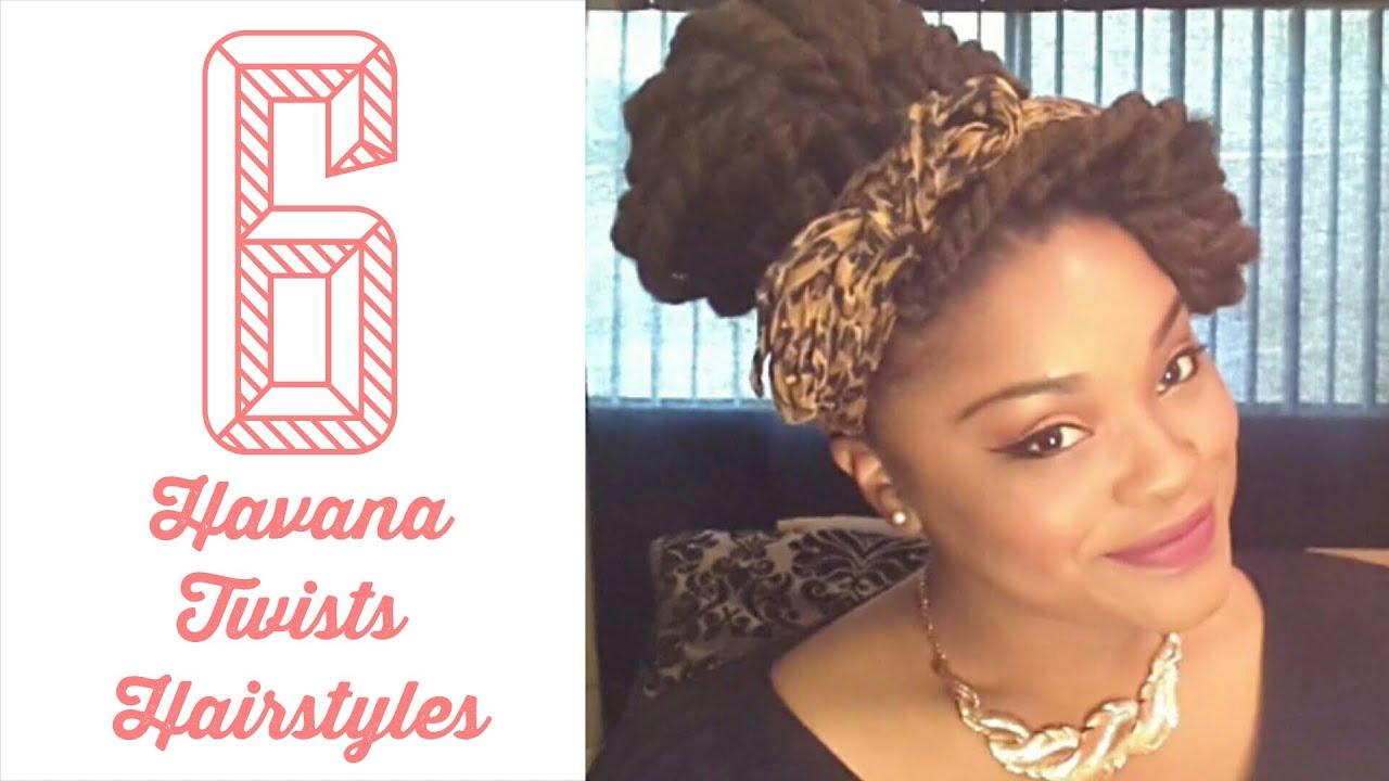 6 easy havana twists/ marley twists hairstyles | natural