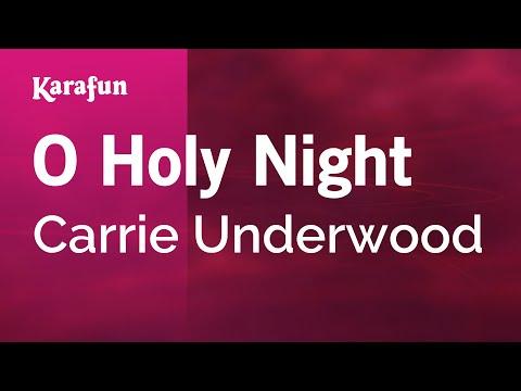 Karaoke O Holy Night  Carrie Underwood *
