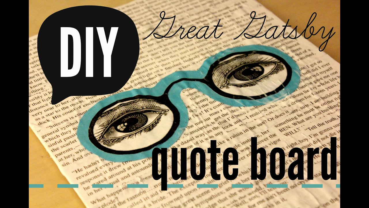 DIY | Great Gatsby Quote Board on a Canvas | rachel republic - YouTube