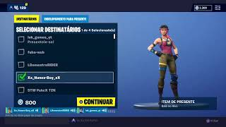 Live Fortnite (championship of the channel supporters worth skin) tag Lucianolcamilo