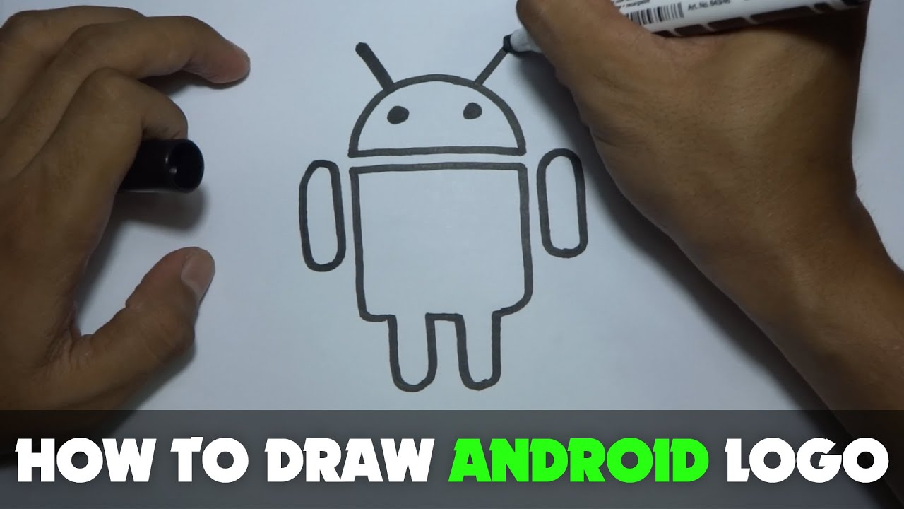 Drawing: How to Draw a Cartoon - Android Logo (Tutorial Step by Step)