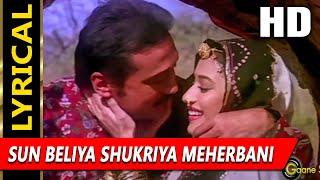 Sun Beliya Shukriya Meherbani With Lyrics | S.P. Balasubramanyam, Lata Mangeshkar | 100 Days Songs