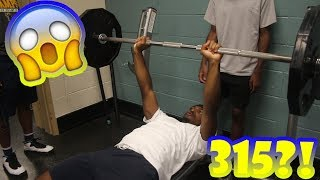 DID I JUST BENCH 315 lbs?! 😭💪  Lil Durti