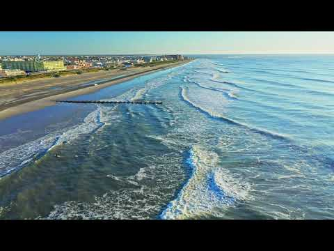 Wildwood, Cape May, New Jersey Area By Drone, 4k UHD