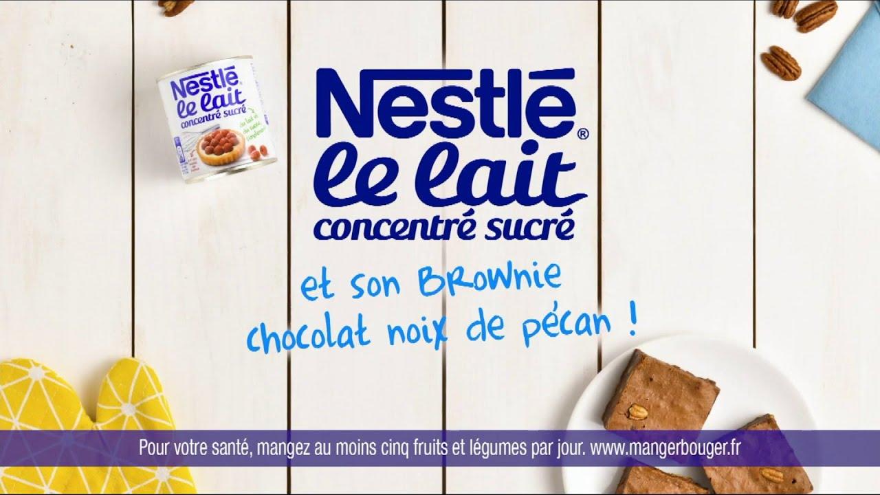 """Musique pub Le lait concentré sucré Nestlé et son brownie chocolat noix de pécan ! """"  2021"""