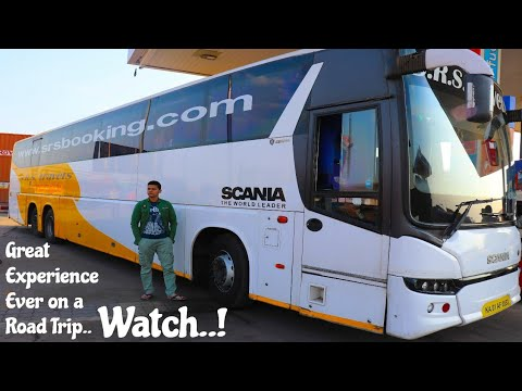 Bangalore To Mumbai By Road In SRS Scania Volvo 5 Multi-Axle Semi Sleeper | 🛬Aircraft On Road - T.K