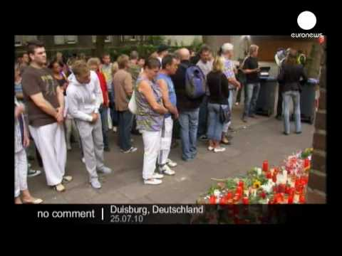 Mourning In Duisburg After Love Parade Stampede - No Comment