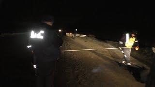 Водитель стал пешеходом и погиб в темноте