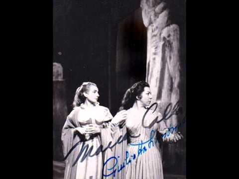 Callas' and Simionato's laser C6 in Norma's Duet (Simionato's blasting C6 as soprano Falcon)