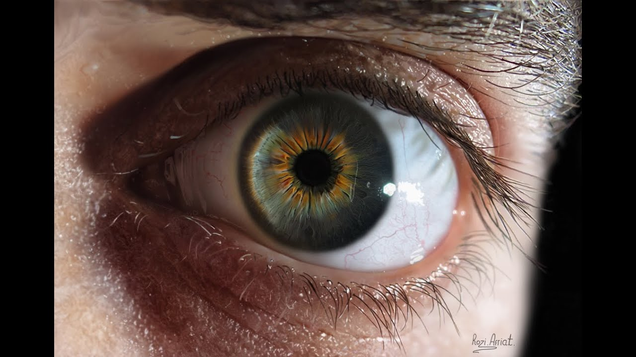 the most realistic eye in the world drawing in photoshop hd