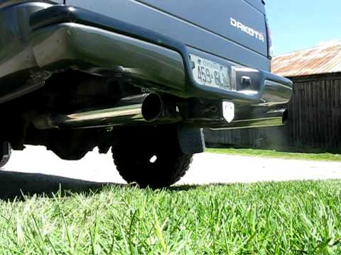 2004 Dodge Dakota 4 7 V8 Exhaust Youtube