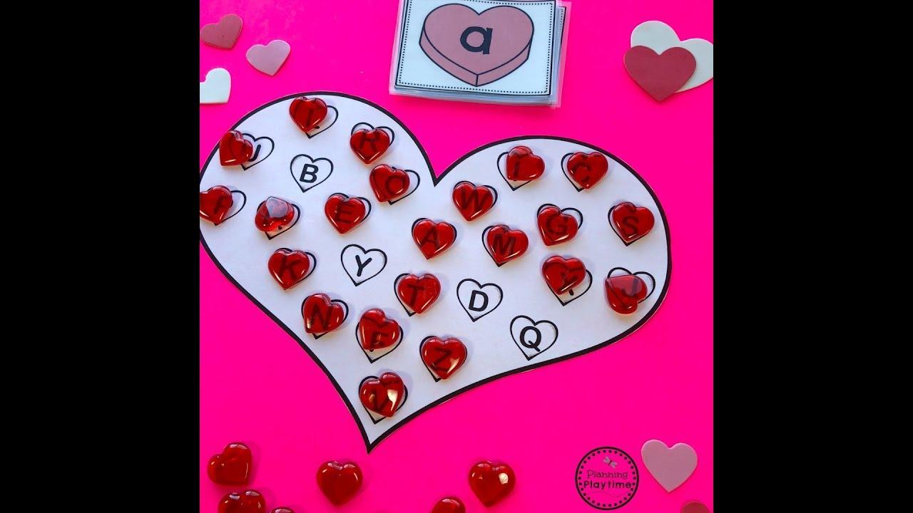 preschool valentines crafts and activities youtube. Black Bedroom Furniture Sets. Home Design Ideas