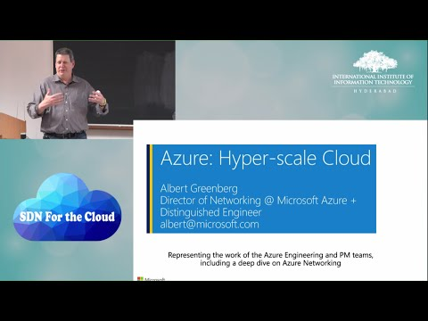 SDN For The Cloud | Albert Greenberg, Microsoft Azure