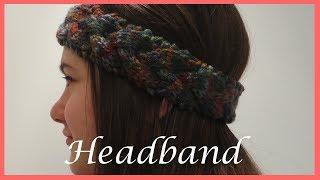 how to knit a braided headband