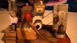 двигатель стирлинга с электрогенератором