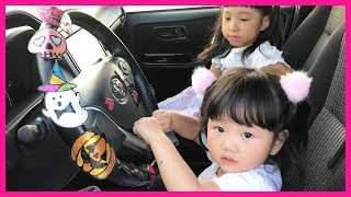We are in the Car Wheels On The Bus Song Nursery Rhymes & Kids Songs Driving in My Car バスのうた 子供のうた