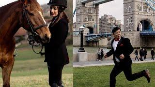 घोडासँग यो के गरिन् प्रियंकाले ? दयाहाङको लण्डनमा भागाभाग/Dayahang Rai & Priyanka Karki