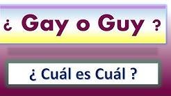 ¿Guy o Gay?, ¿Cuál es cuál? Inglés Fácil