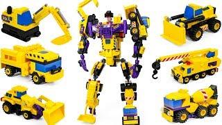 Transformers Yellow Color Brick Construction Devastator Vehicle Combiner Car Robot Toys