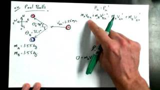 5 5C   Example of Pool Ball 2D Momentum
