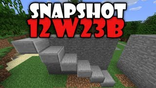 Minecraft 1.3 : Snapshot 12w23b - HALF SLAB ON WALLS, BETTER BOATS! (HD)