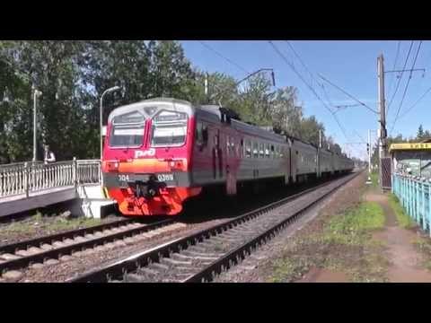 Электропоезд ЭД4М-0389 сообщением Зеленогорск - Санкт-Петербург