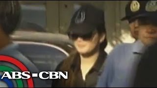 Deniece Cornejo arrives at Taguig RTC
