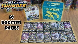 50 Lost Thunder Booster Pack Opening