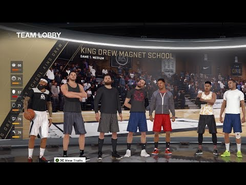 FACING AN ALL YOUTUBER TEAM IN NBA LIVE 18!!