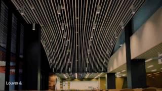 인테리어/금속천정재/알루미늄 스크린루버 제작,시공 Lo…