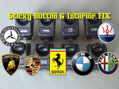 How to Fix Sticky Interior Buttons Gooey – Cheap & Easy