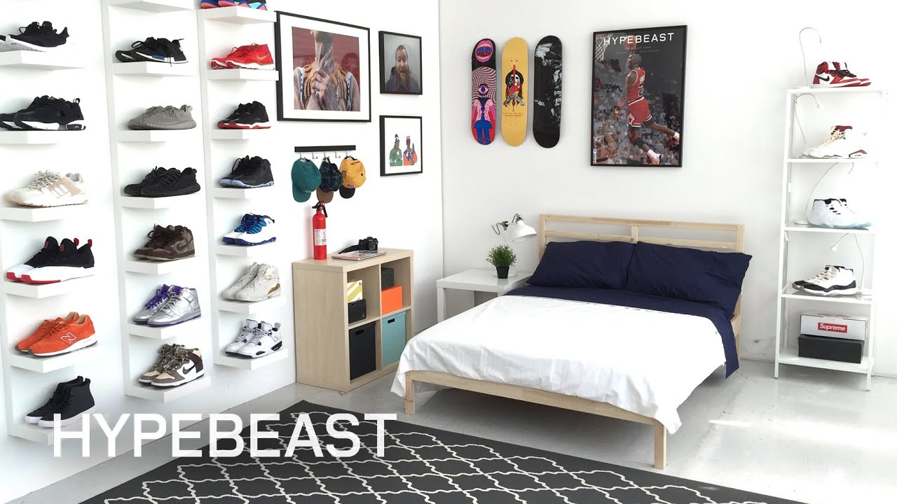 Cool Guy Bedrooms Ikea 174 And Hypebeast Design The Ideal Sneakerhead Bedroom