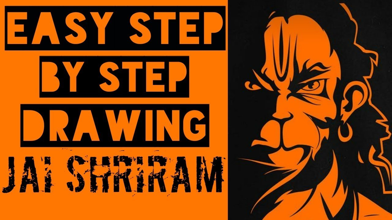 How To Draw Angry Hanuman Step By Step Youtube